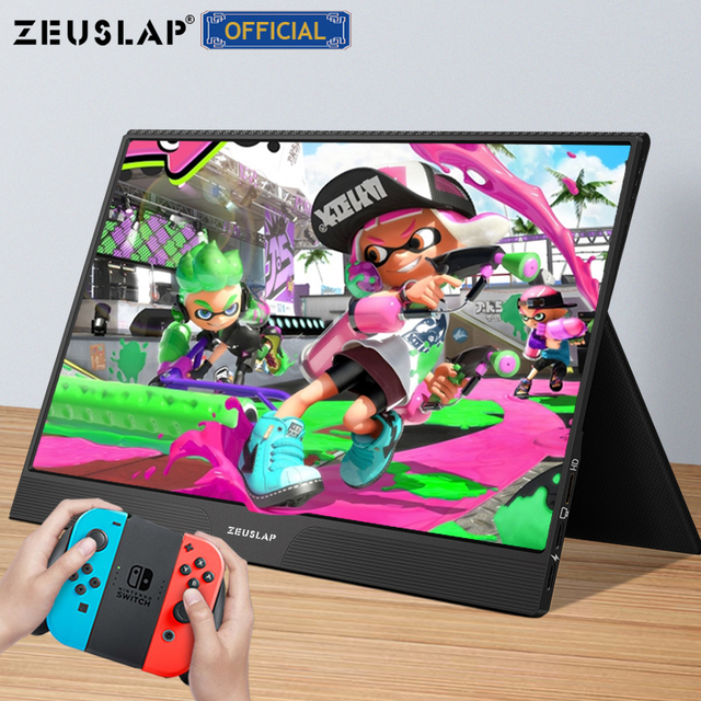 15.6inch touch panel portable monitor usb type c HDMI-compatible computer touch monitor for ps4 switch xbox one laptop phone 6