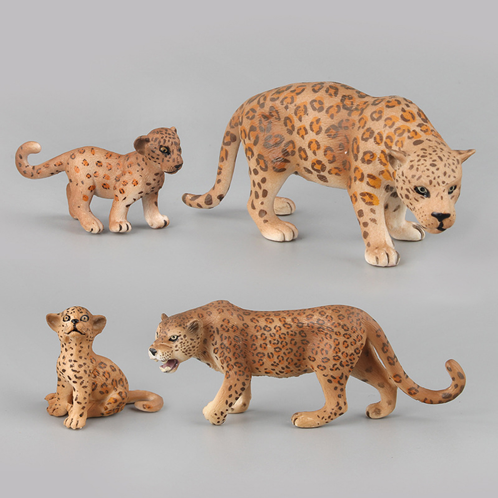 Animals Action Figure Leopard Model Toys Plastic Figurine Collection Toys Gift For Children Decorations Animal Figures Toy Model