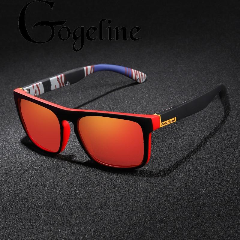 2020 Square Polarized Sunglasses Mirror Ultralight Glasses Frame Sport Sun Glasses Male UV400 Driver Shades Coating Oculos