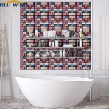 3D wall art mural bedroom decor brick stone wall stickers for sofa sticker living room bathroom kitchen room backdrop DIY adorn цена 2017