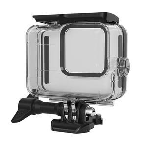 Image 2 - 60m boîtier étanche sous marin pour GoPro Hero 8 coque de protection boîtier noir caméra lentille filtres 60M plongée natation ensemble