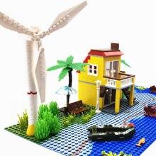 Ville Créateur Mini Moulin À Vent Blocs De Construction Maison Villa Modèle BRICOLAGE Briques Autobloquantes Pièces Mer Accessoires Animaux Enfants Jouets Cadeau