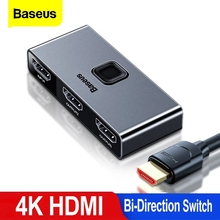 Baseus HDMI Switcher 4K 60Hz HDMI Switch 2 Ports Bi Direction 1x2/2x1 Adapter HDMI Switcher Converter For Game PS4 Pro4/3 TV BOX