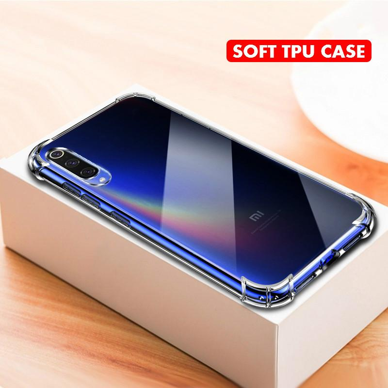 Shockproof Clear Airbag Soft TPU Case For Xiaomi CC9 CC9E A3 Lite Mi 9T Redmi K20 Pro Note 8 7 6 5 Pro 7A 6A Go 9 SE 8Lite Cover