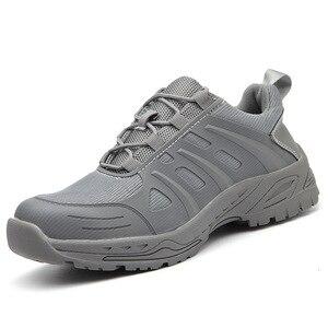 Image 5 - Защитная обувь для мужчин и женщин, легкие рабочие кроссовки со стальным носком, защита от ударов, дышащие, износостойкие