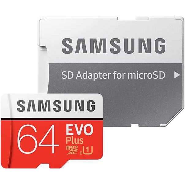 Карта памяти microSDXC UHS I U1 SAMSUNG EVO PLUS 64 ГБ, 100 МБ/с, Class 10, MB MC64HA/RU,  1 шт., переходник SD|Карты памяти|   | АлиЭкспресс