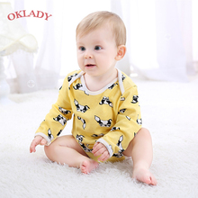 OKLADY Winter Baby Boy Clothes Newborn Infant Girl Romper Jumpsuit Cotton Unisex Cartoon Outfit Toddler Long Sleeve Clothes 3-6M 2017 newborn baby boy winter long sleeve cotton clothing toddler baby clothes romper warm cartoon jumpsuit for 0 12 months