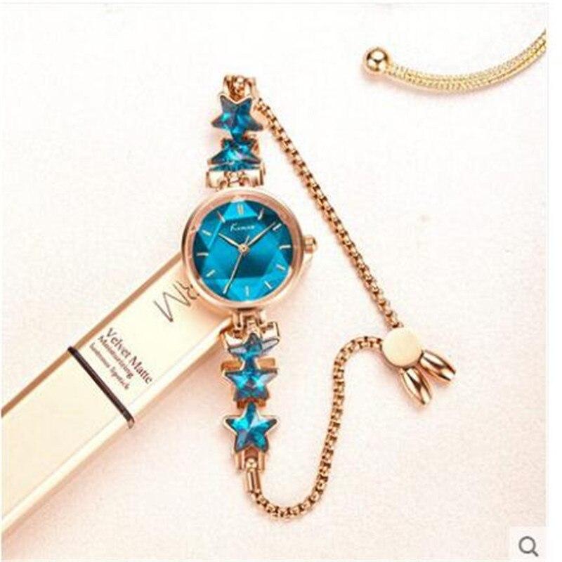 Ladies Elegant Wrist Watches Women Bracelet Watch Quartz Wristwatch Luxury Watch Five-pointed Star Small Dial Watch Gift For Wom