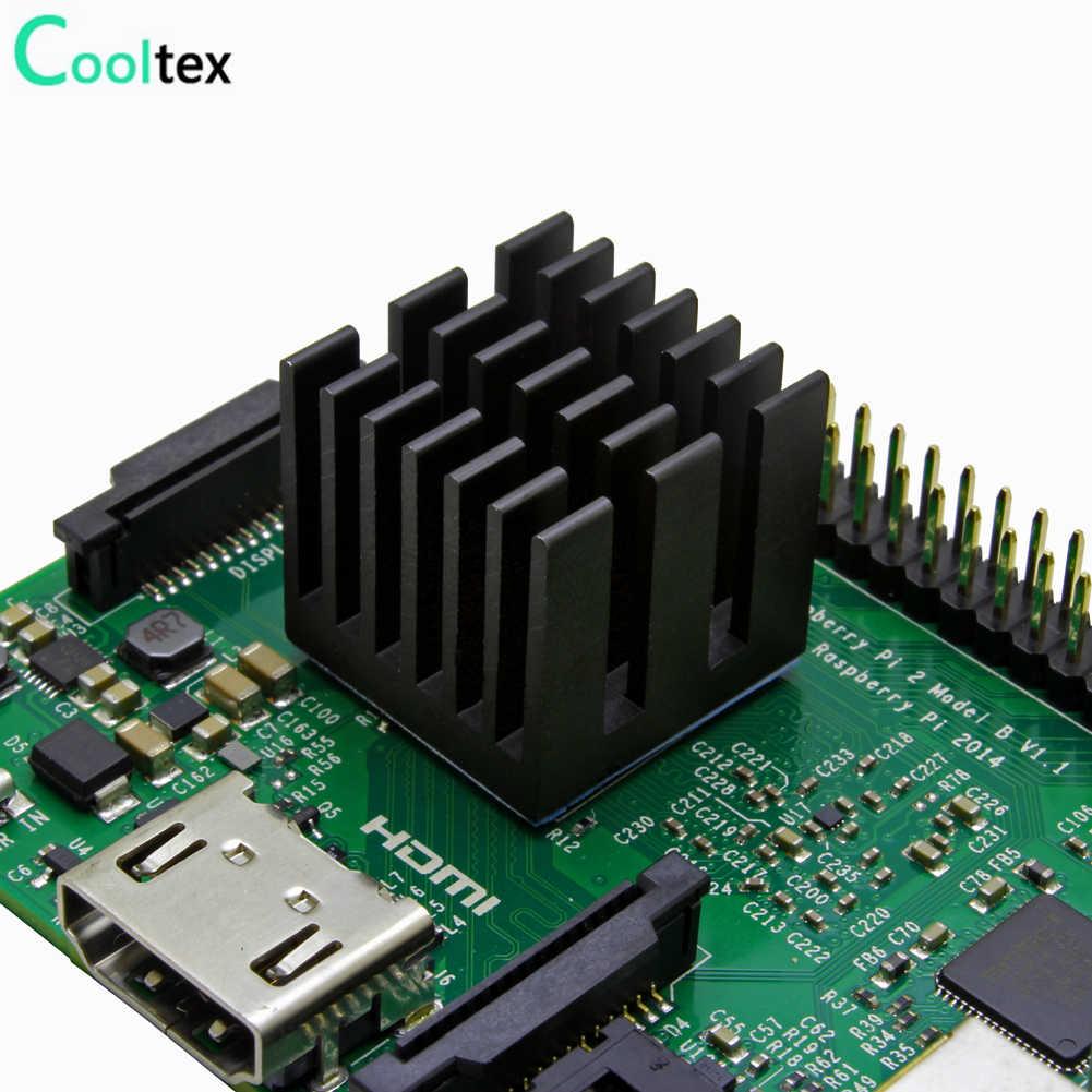 20 個 20 × 20 × 19 ミリメートルアルミヒートシンクラジエーター電子チップで冷却熱導電性両面テープ