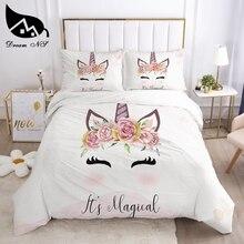 Dream NS Sleep Unicorn Bedding set Queen Bedding Home Textiles Set Bedclothes rainbow horse duvet cover set juego de cama