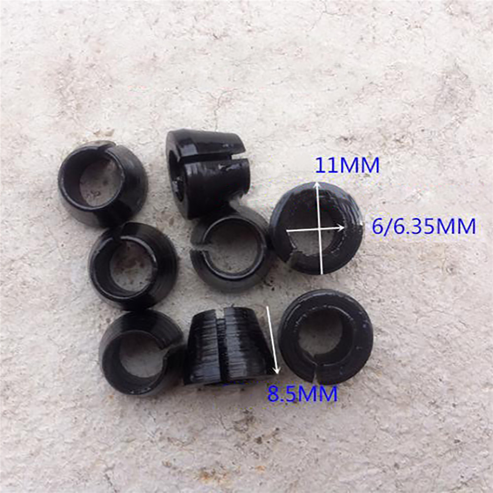 5pcs/set 6mm/6.35mm Trimmer Chuck Replacement Router Collet Cone For Makita 3703/ 3701 Trimming Machine Repair Parts