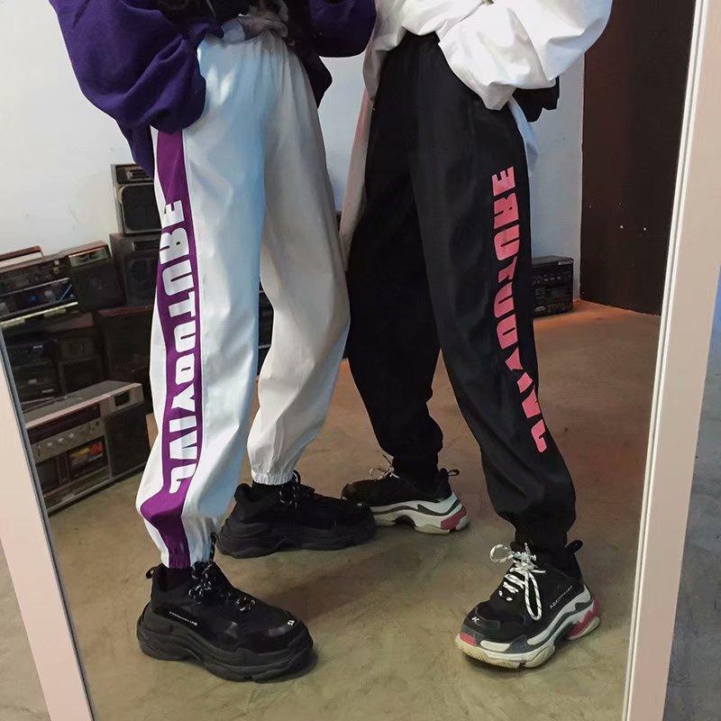Summer Beam Leg Capri Casual Pants Korean-style Loose-Fit Skinny Harem Pants Autumn Versatile INS Students Sweatpants Fashion