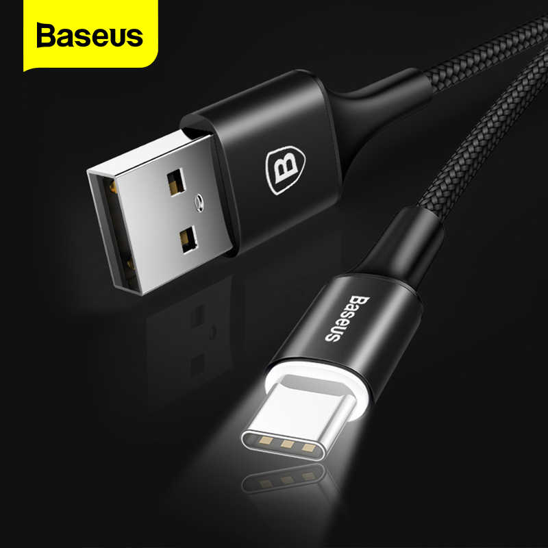 Baseu USB Type CสายUSBC Fast Charger Charger USB-C Type-CสำหรับSamsung S10 S9 Xiaomi mi 9 8 Plus 6T 6 5T