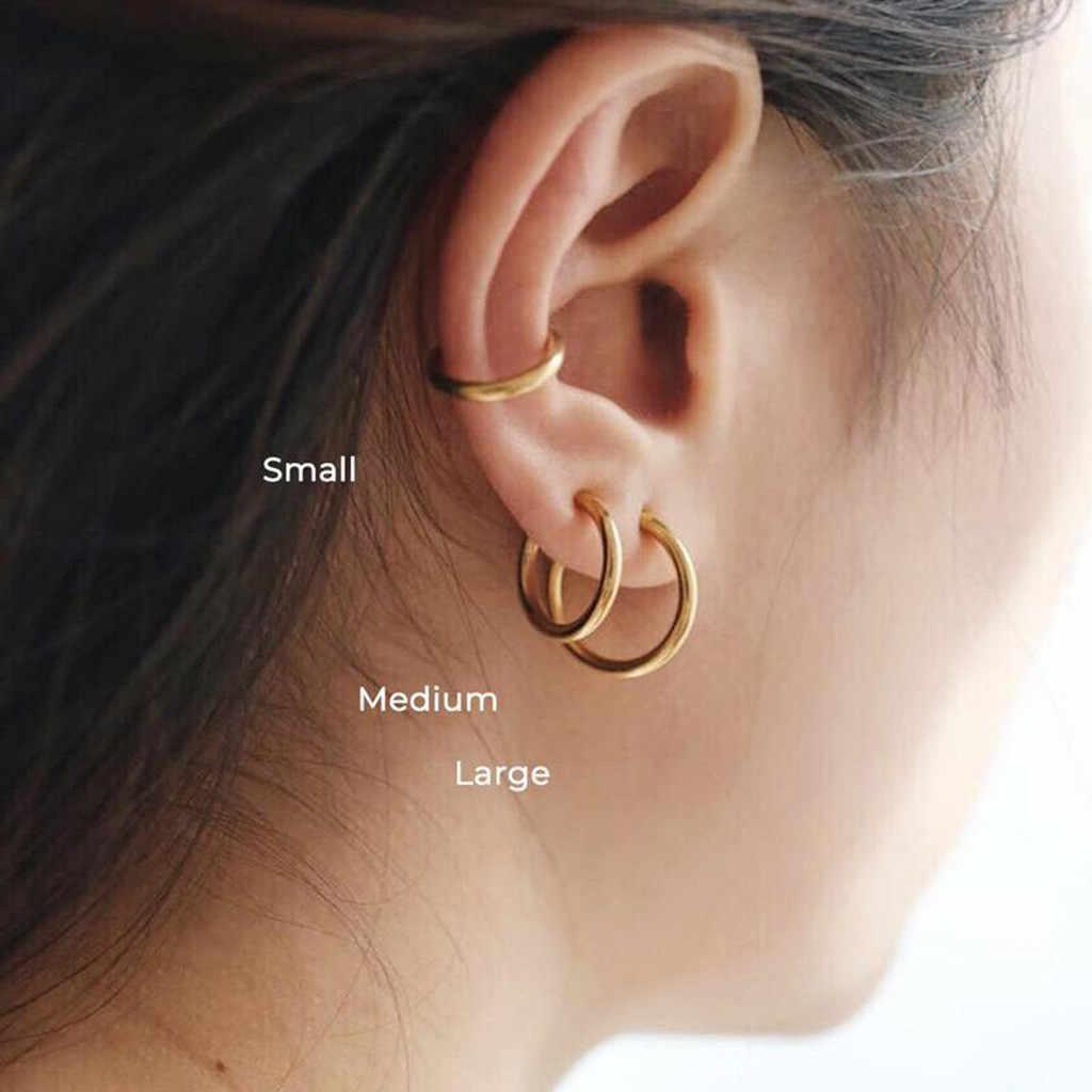 2 Buah Klip Pada Tubuh Bibir Hidung Telinga Palsu Ditarik Anting-Anting Anting-Anting Hoop Kuda untuk Wanita Liontin Perhiasan Aksesori Hadiah бижутерия