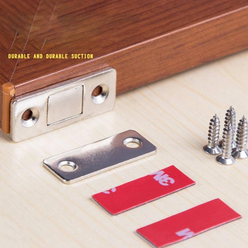 Magnetic Hidden Door Cabinet Closer Magnet Catches Door Stops With Screws Sticker For Cupboard Closet Furniture Tools