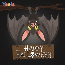 Yeele Halloween Horror Party Bats Skull Decor Moon Photography Backdrops Personalized Photographic Backgrounds For Photo Studio
