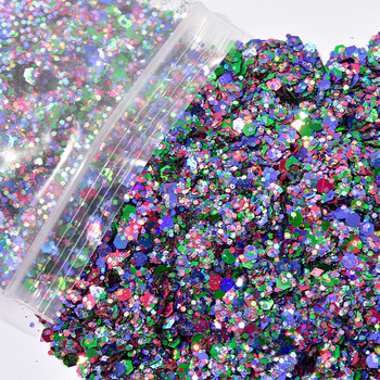 1Pack/50g Nail Holo Mermaid Glitter Flakes Paillette Mix Chrom Powder For Nail Art Glitter Sequins UV Gel Polish Manicure MD## 10ml jar mix color nail art glitter powder holo gold hexagon aurora nail flakes sequins for a manicure nail art decorations new