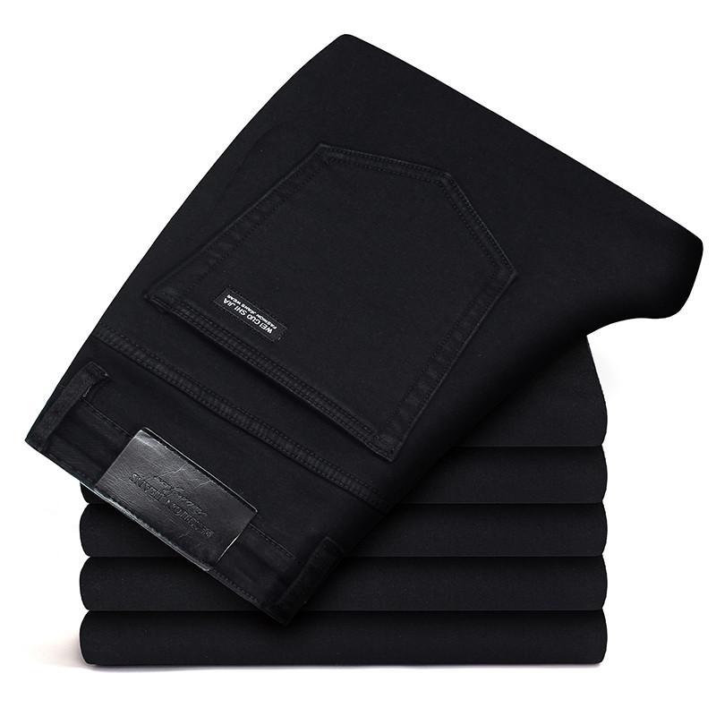 2020 новые бизнес джинсы классические универсальные черные Высококачественные мягкие Стрейчевые джинсы деловые модные повседневные джинсовые штаны брендовые мужские|Джинсы|   | АлиЭкспресс