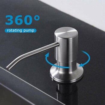 300ml Kitchen Soap Dispenser ABS Plastic Bottle Liquid Soap Pump Kitchen Dispenser Bathroom Hand Sanitizer Detergent Distributor 1