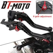 Motocicleta ajustável alavancas de freio embreagem para triumph bonneville/se/t100/preto 2006 a 2015 rocket iii roadster 2010 até 2016