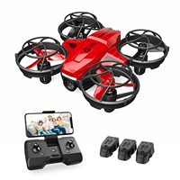 Mini Dron Holy Stone HS420 con cámara HD FPV para niños y adultos, cuadricóptero de bolsillo con 3 baterías, lanzamiento