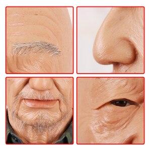 Image 5 - Eyung Oude William Hoge Kwaliteit Realistische Siliconen Masker S, oude Man Maskerade Voor April Fool S Day Volledige Hoofd Lastig M Vragen Props