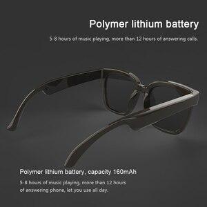 Image 5 - A3 2 ב 1 משקפי חכמים אלחוטי Bluetooth אוזניות BT5.0 מוסיקה משקפיים חיצוני רכיבה על אופניים משקפי שמש ספורט אוזניות עם מיקרופון