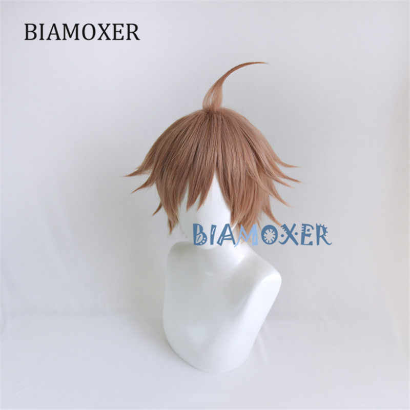 Anime Dangan Ronpa Naegi Makoto Wig Cosplay Costume Danganronpa Women Hair Halloween Women Wigs