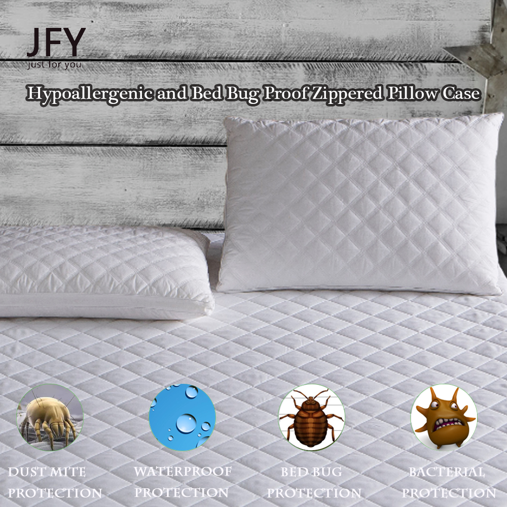 UltraPlush Premium Waterproof Pillow Protectors - Hypoallergenic and Bed Bug Proof Zippered Pillow Case - 2 Pack - Super Soft an