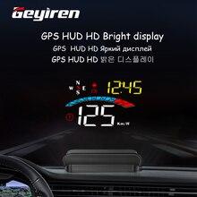 2020 M16 GPS OBD2 Auto HUD Head Up Display Velocità Digitale Proiettore Allarme di Sicurezza Aggiornato Consumo di Carburante Temp KMH/KPM
