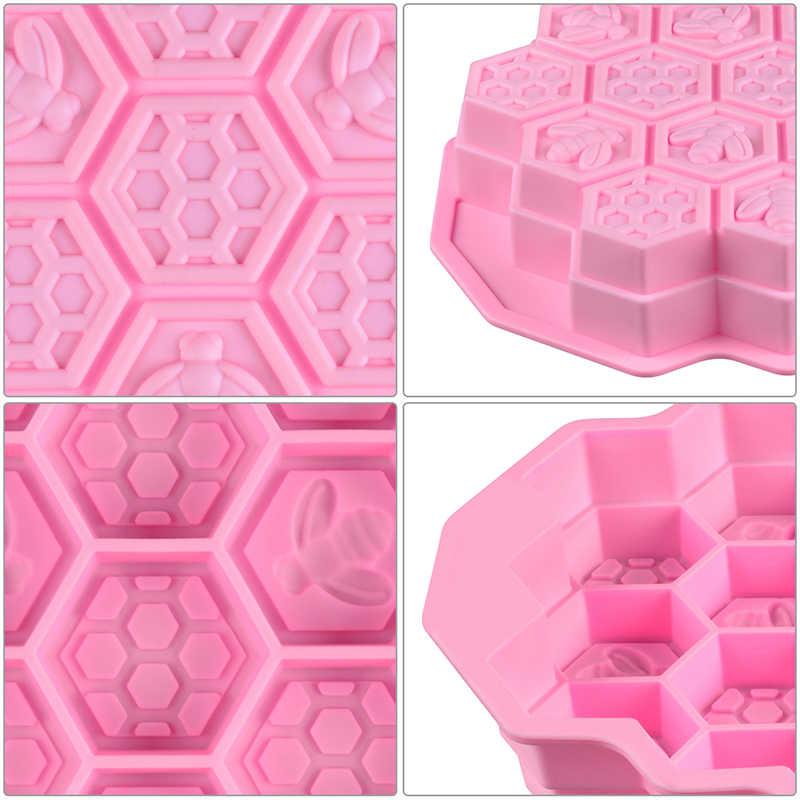 Большой 3D Соты пчелы Силиконовые формы для мыла делая для самостоятельного изготовления мыла формы, пресс-формы