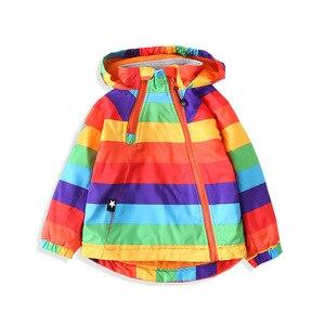 Image 1 - Coloré rayé chaud polaire bébé filles garçons vestes mode enfant manteau coupe vent vêtements dextérieur pour enfants enfants tenues pour 90 140cm