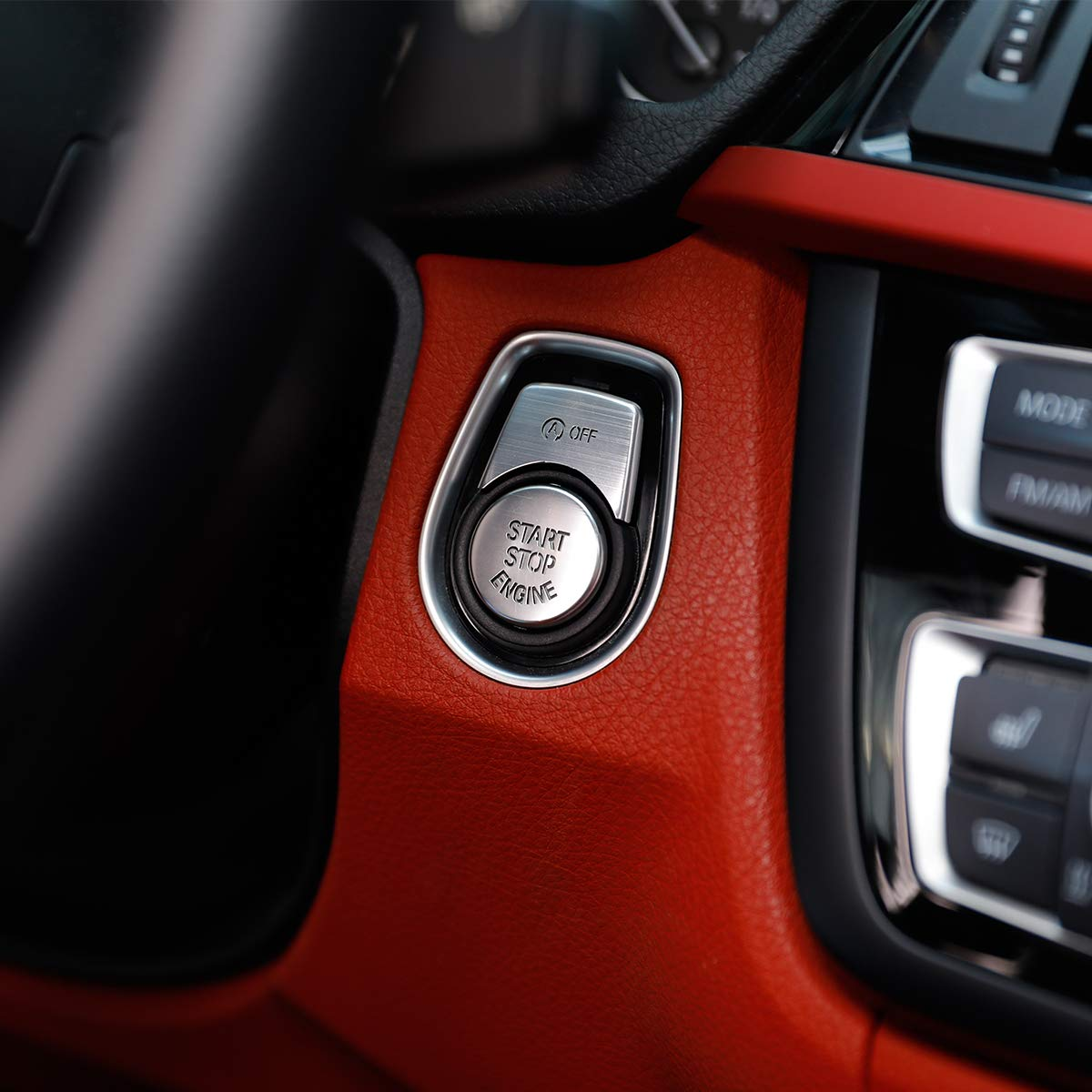 Engine Start Stop Switch Button Trim Cover for 1 2 3 4 3 Series GT F20 F30 F32 F34 Red