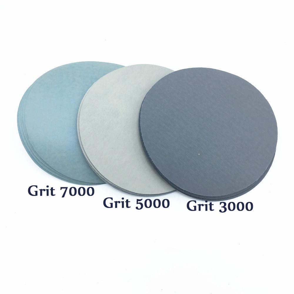 60pcs 5 Inch 125mm Round Sandpaper Disk Sand Sheets Grit 1000/1500/2000/3000/5000/7000 Hook And Loop Sanding Disc Polish