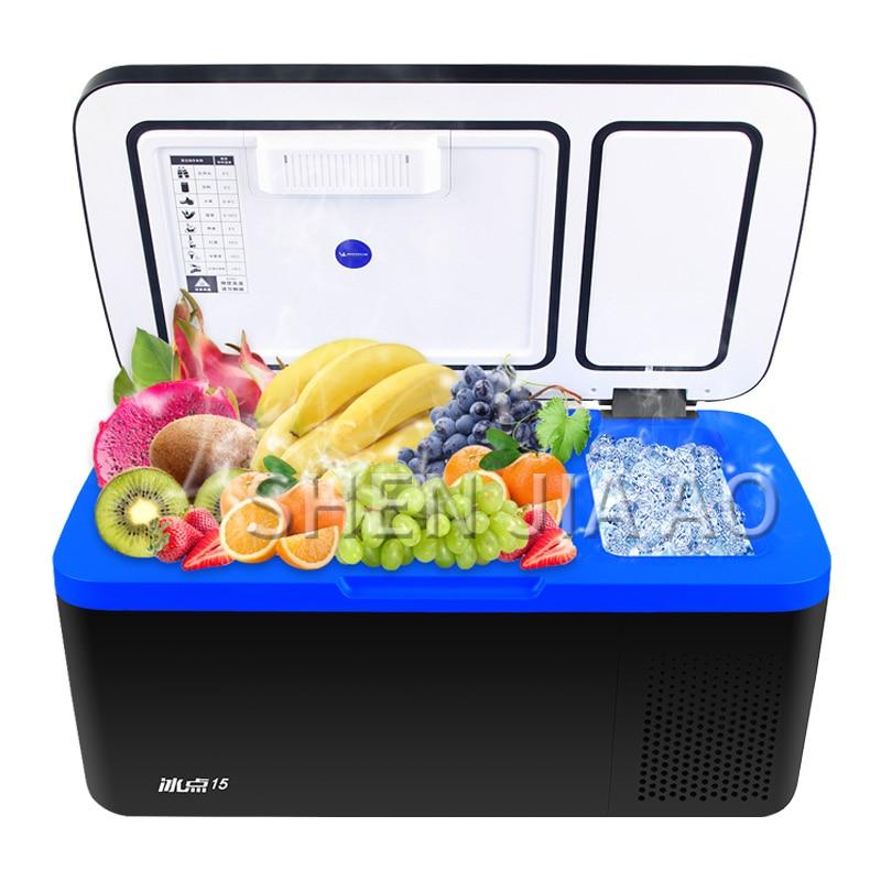 Portable Fridge 15L Car Refrigerator Compressor Refrigeration Household Dual-use Refrigerator Freezer Small 12V Car Refrigerator