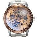 IK цветные часы  роскошные часы  мужские автоматические механические часы из нержавеющей стали  мужские часы с скелетом  часы Relogio Masculino