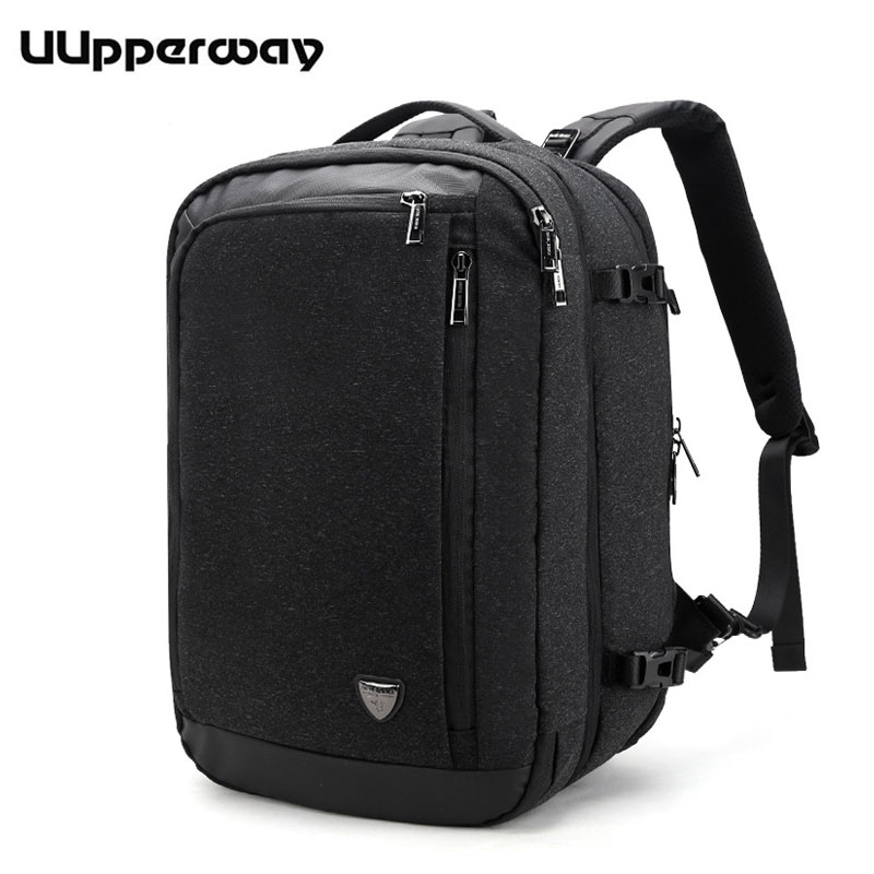 Uupperway Large Laptop Backpack for 17 inch Removable Men's Backpack Travel Teenage Schoolbag Waterproof Male Bagpack Mochila