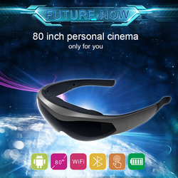 2020 New FPV Video Glasses K600 80 inch screen Head-mounted display Smart Glasses Immersive game Android system WIFI BT4.0