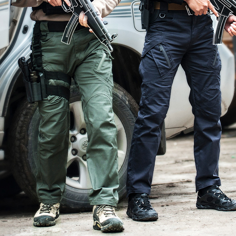 City Military Tactical Pants Men SWAT Combat Army Trousers Men Many Pockets Waterproof Wear Resistant Casual