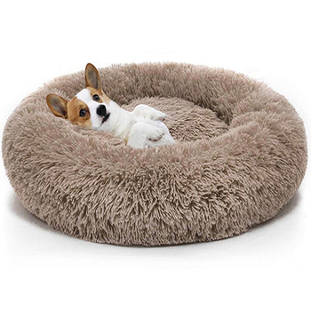 Warm Fleece Dog Bed Round Pet Lounger Cushion For Small Medium Large Dogs Cat Winter Dog Kennel Puppy Mat Pet Bed image