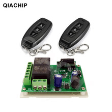 QIACHIP 433MHz Universal DC 6V 12V 24V 2CH Wireless Smart Remote Control Switch Receiver Module Transmitter For Lamp Motor(China)
