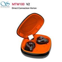Shanling mtw100 tws v2 conexão direta bluetooth 5.0 in ear fone de ouvido knowles ba/grafeno dinâmico driver ipx7 à prova dwaterproof água