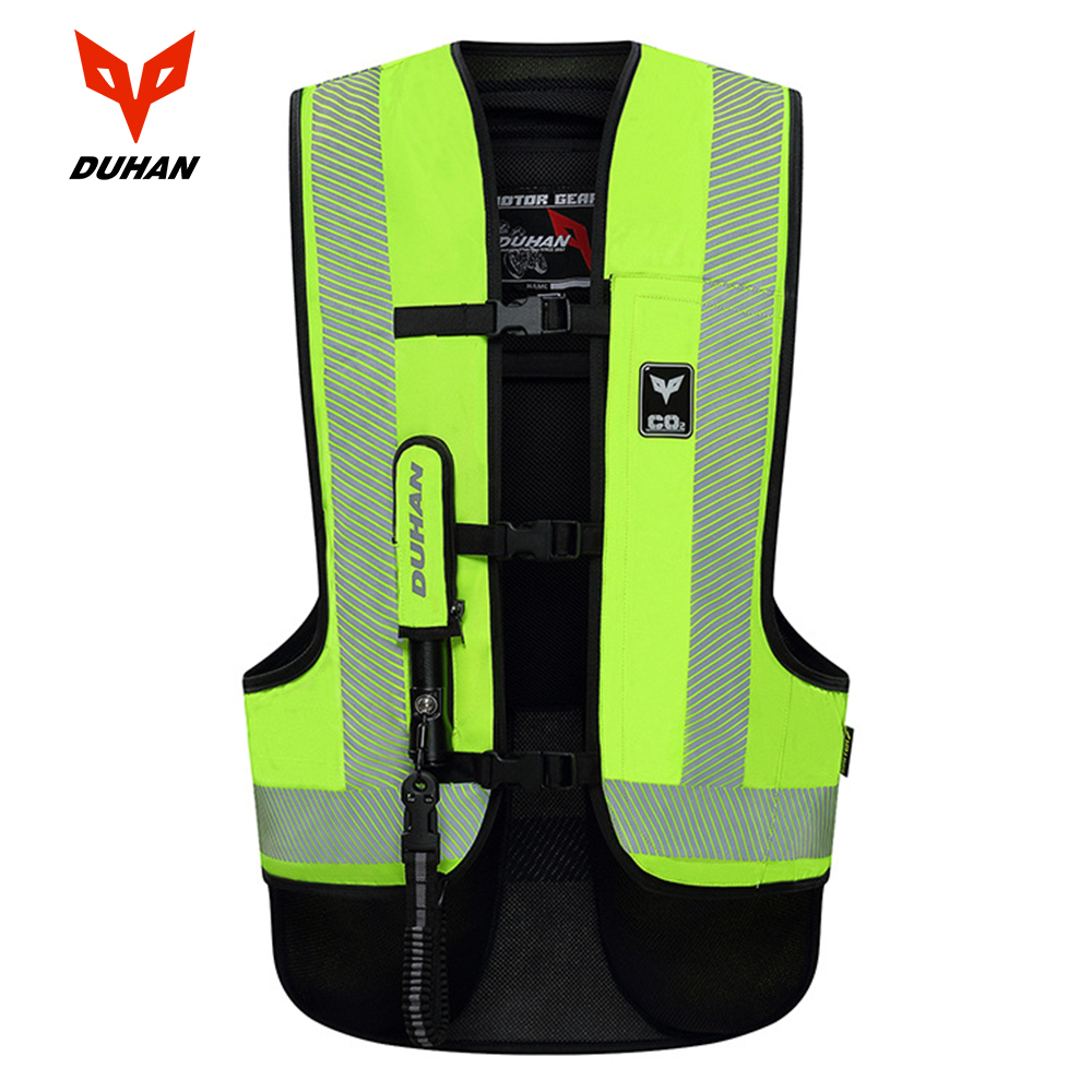 DUHAN Motorcycle Vest Airbag Motorcycle Vest Air Bag System Protective Gear Reflective Motorbike Airbag Moto Vest