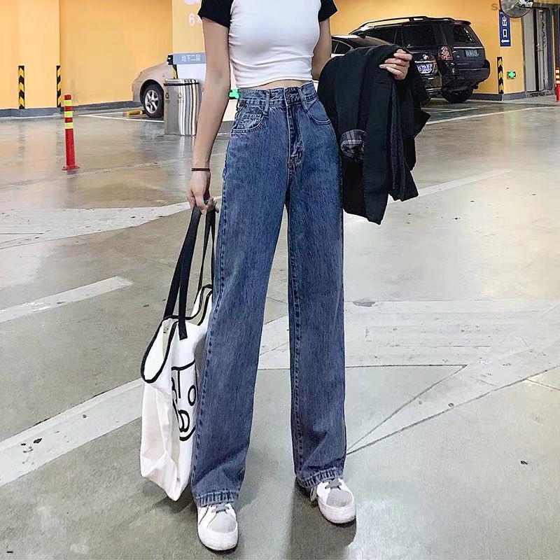 Loose Pants Full Length Length Oversize High Waist Jean Spring Casual Denim Wide Leg Vintage Woman Jeans For Women