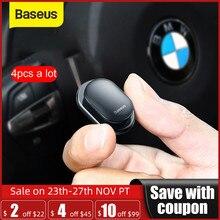 Baseus 4 Móc Treo Đồ Ô TÔ Lưu Trữ Đồ cho USB Cáp Tai Nghe Chìa Khóa Lưu Trữ Tự Dính Tường Móc Treo Tự Động Nhanh kẹp