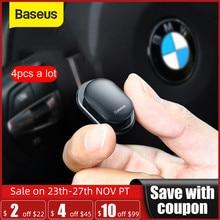 Baseus 4 sztuk samochodów haki organizator do przechowywania na kabel USB słuchawki klucz do przechowywania samoprzylepne hak ścienny wieszak Auto zapięcia klip