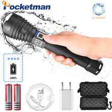 120000 lumens Lamp xhp90 most powerful flashlight usb Zoom led torch xhp70 xhp50 18650 battery Best Camping, Outdoor(China)