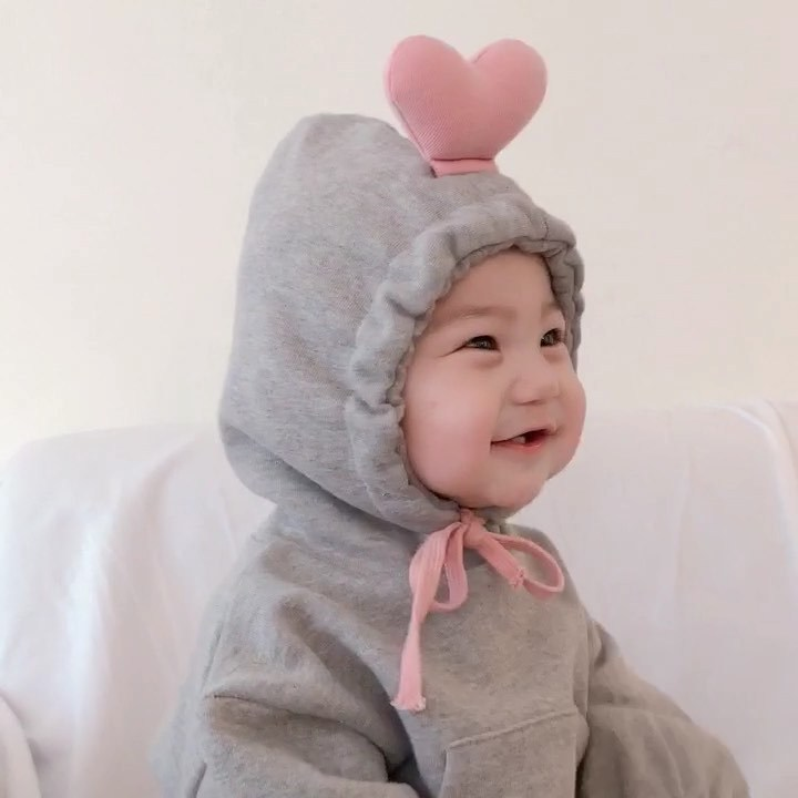 Celveroso Autumn Baby Rompers Cute 3D Heart Infant Girl Boy Cotton Jumpers Kids Baby Outfits Clothes Newborn Infant Cap Romper