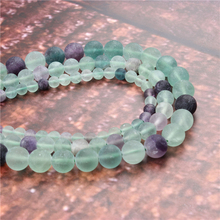 Wholesale Fashion Jewelry Frosted Fluorite 4/6/8/10 / 12mm Suitable For Making Jewelry DIY Bracelet Necklace