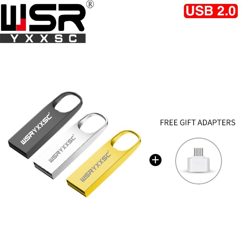 Mini Metal High Speed 2.0 Pen Drive 4gb 8gb 16gb 32gb 64gb 128gb Cheap Waterproof Flash Disk Memory Usb Key Real Capacity Gift